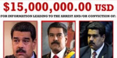 us-haftbefehl für venezuelas präsidenten: 15 millionen für maduros kopf