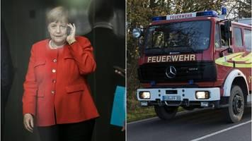 Coronavirus: Feuerwehr bekommt Merkel-Anruf und glaubt an Scherz