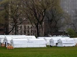 kliniken wegen corona überlastet: new york baut lazarett im central park