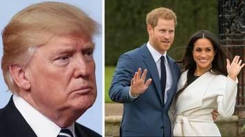 Auf Twitter: Donald Trump zum Umzug von Harry und Meghan in die USA: Werden nicht für ihren Schutz zahlen