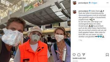 Corona-Flucht aus Costa Rica: Mit Windel als Mundschutz: Janni Hönscheid und Peer Kusmagk sind zurück in Deutschland