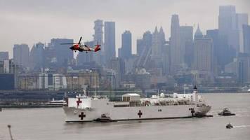 Coronavirus-Krise: Um Krankenhäuser zu entlasten: Schwimmendes Lazarett legt in New York an