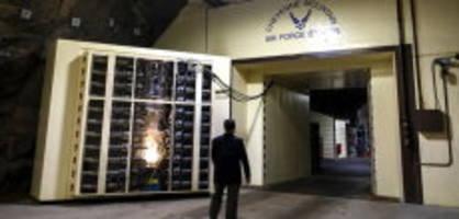 panik vor coronavirus: us-luftwaffe zieht in  bunker tief unter der erde