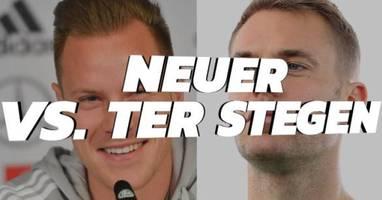 duell ums dfb-tor: neuer vs. ter stegen