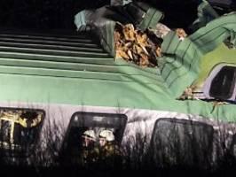unglück auf rheintalstrecke: ein toter nach güterzug-unfall