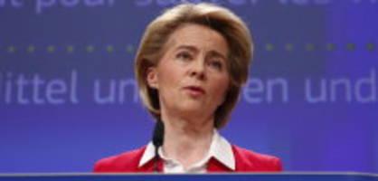 Coronakrise: Von der Leyen will 100 Mia Euro für Kurzarbeiter