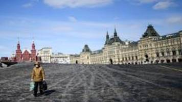 Coronavirus in Russland: Aus der arbeitsfreien Woche wird ein Monat