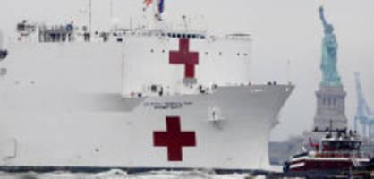 new york: auf spitalschiff sind nur 20 patienten - «ein witz»