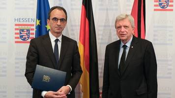 Hessens neuer Finanzminister Boddenberg wird vereidigt
