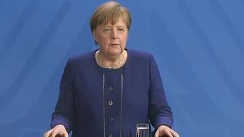 corona-krise in deutschland: statement von bundeskanzlerin merkel zum coronavirus am 6. april 2020