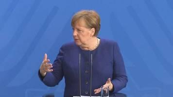 Video: Merkel - Beschränkungen bleiben auf jeden Fall bis 19. April