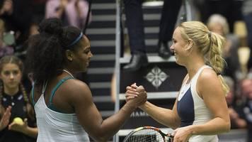 Abschiedsspiel: Match von Wozniacki gegen Serena Williams verschoben
