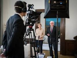 Bundespräsident zur Coronakrise: Steinmeier: Das reißt uns das Herz entzwei