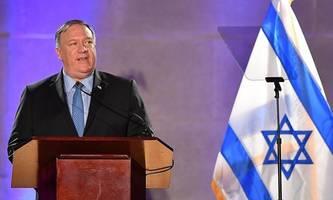 pompeo trifft netanyahu und gantz nächste woche in israel
