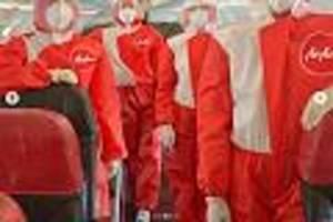 fliegen trotz corona  - airline sorgt mit kuriosen outfits für bordpersonal für aufsehen