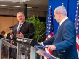 besuch in israel: pompeo wirbt für friedensvision
