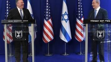 stippvisite in israel - pompeo: fortschritte bei trumps nahost-plan notwendig