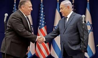 pompeo in israel: fortschritte bei trumps nahost-plan notwendig