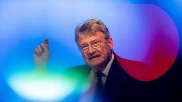alternative für deutschland - streit um kalbitz: afd-chef meuthen weist kritik zurück
