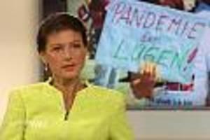 """tv-kolumne """"anne will"""" - """"zu 80 prozent privat finanziert"""": sahra wagenknecht greift im tv who an"""