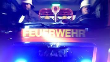 Massive Rauchentwicklung bei Großbrand in Ladenburg
