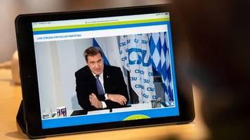 Virtueller CDU-Parteitag: Den Staat nicht ruinieren: CSU-Chef Markus Söder für Obergrenze bei Corona-Hilfen