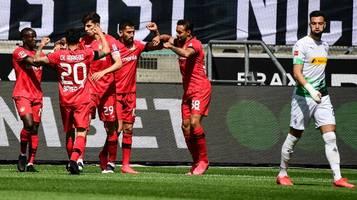 Bundesliga,  27. Spieltag: Bayer Leverkusen schießt Gladbach ab – Werder Bremen lebt noch