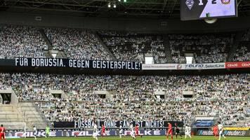 Kein leeres Stadion - 12.993 Gladbacher Pappkameraden sehen 1:3
