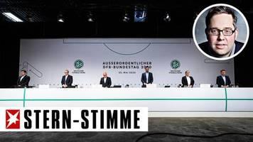 P. Köster: Kabinenpredigt: Warum der DFB in der Coronakrise völlig überfordert ist