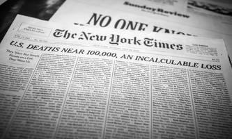 Titelseite der New York Times gefüllt mit Corona-Opfern