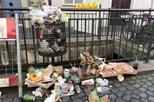 warum in augsburg zurzeit mehr müll weggeworfen wird als sonst