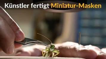 Video: Künstler fertigt symbolische Miniatur-Masken