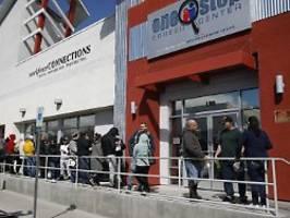 Quote trotzdem enorm: Weniger Erstanträge auf US-Arbeitslosenhilfe