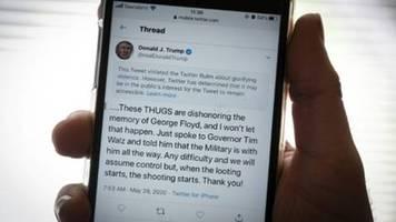 Twitter verbirgt Trump-Tweet wegen Gewaltverherrlichung