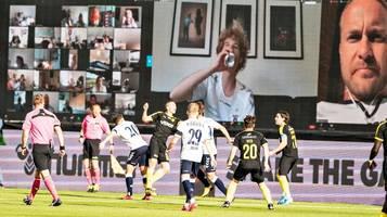 Corona-Krise: Dänemark startet Ligafußball mit digitalen Zuschauern