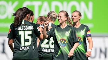 Frauen-Fußball-Bundesliga: Wolfsburger Fußballerinnen gewinnen bei Neustart