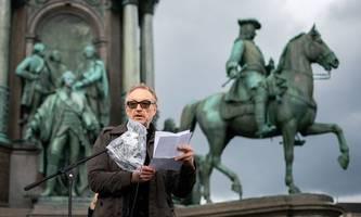 Coronahilfen: Prominente Künstler demonstrierten in Wien