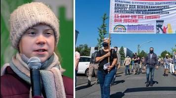 Nordrhein-Westfalen: Thunberg: Beschämender Tag – Umweltschützer protestieren gegen Kraftwerk Datteln 4