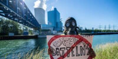 Neues Steinkohle-Kraftwerk Datteln IV: Kohlekumpel beim Klimaprotest