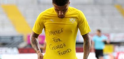 BVB-Star Sancho gedenkt mit Jubel US-Polizeiopfer Floyd