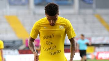 Justice for George Floyd: BVB-Profi Sancho protestiert