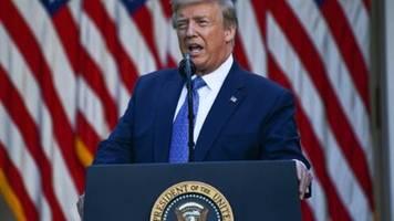 Trump kündigt hartes Vorgehen gegen Randalierer an und spricht von Terror
