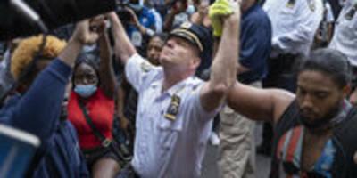 Unterstützung für US-Proteste: Selbstbezogene Solidarität