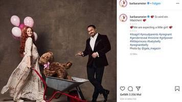 leute von heute: model barbara meier verrät das geschlecht ihres babys