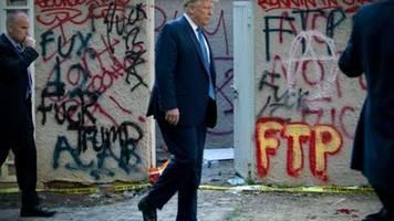 trump will bunker unter weißem haus während protesten nur inspiziert haben