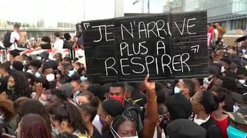 Video: Demonstration gegen Rassismus und Polizeigewalt in Frankreich