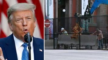 Proteste in den USA: Trump zäunt sich ein – Videos von Zäunen und Barrieren um das Weiße Haus gehen viral