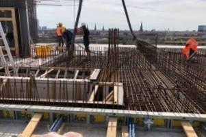 st. pauli: das erste neue geschoss auf dem feldstraßenbunker steht
