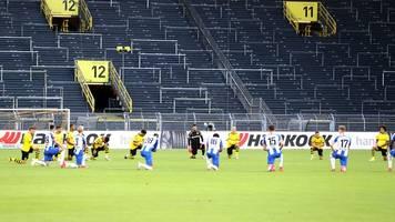 Bundesliga: Profis von BVB und Hertha setzen Zeichen gegen Rassismus