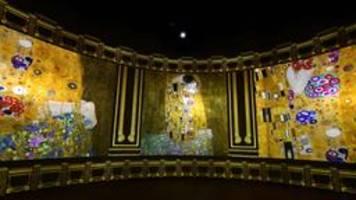 digitalmuseum in bordeaux: ein bunker glänzt in klimts farben